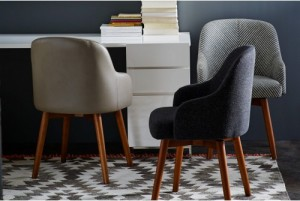 West Elm Saddle Chair